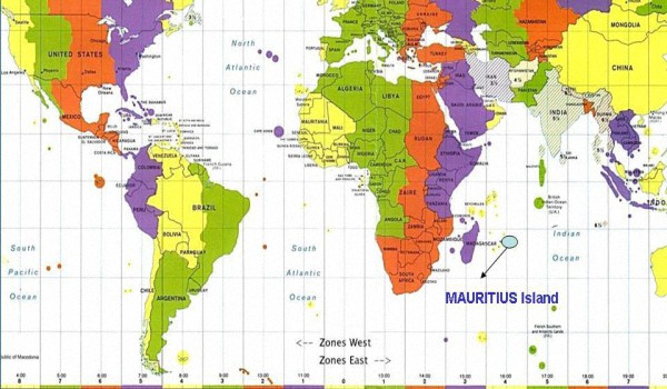 Разница во времени с Маврикием