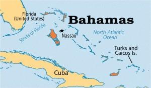 Багамские Острова на Карте Мира Расположены