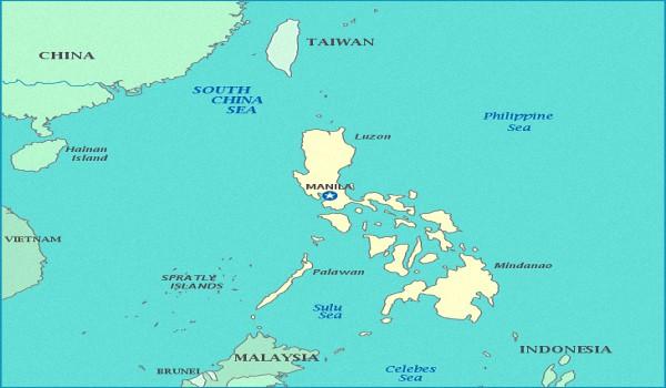 Где на карте находится Филиппины
