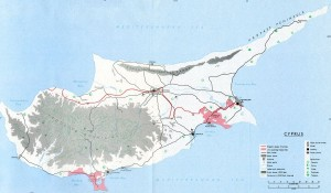 Остров Кипр на Карте Мира Находится